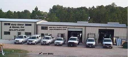 Katy Glass & Mirror warehouse in Katy, Texas