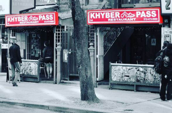 Khyber Pass Restaurant exterior in New York, NY near Nolita