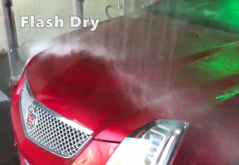 Get a flash dry at our car wash