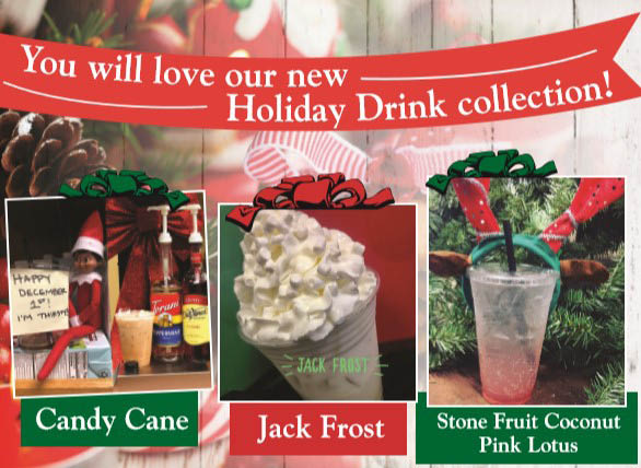 You'll love our new holiday drinks at Kassie's Korner Coffee Bar in Graham, WA and South Hill Puyallup, WA - holiday coffee drinks - drive thru coffee stands near me - drive thru espresso stands near me
