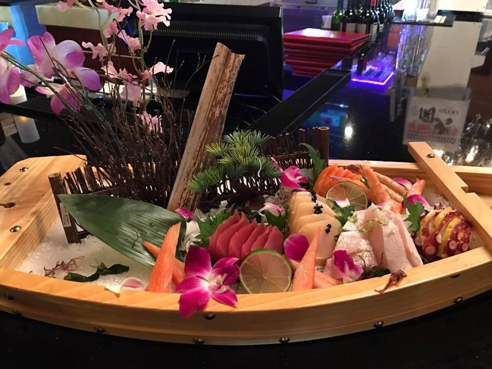 boat of assorted sushi and sashimi in New Port Richey, FL