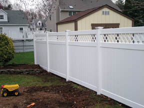 White Fencing Installation by New Jersey Company Keith's Fence