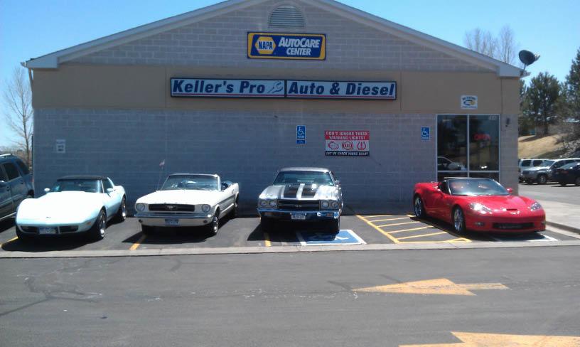 Keller's Professional Auto & Diesel auto repair storefront