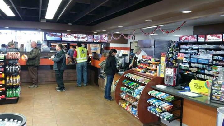 Picture of the Kenosha Shell Gas Station inside view with a variety of food and drink items for sale near Pleasant Prairie, WI