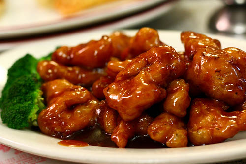 Photo of Super China Buffet in Racine general tso's spicy chicken.