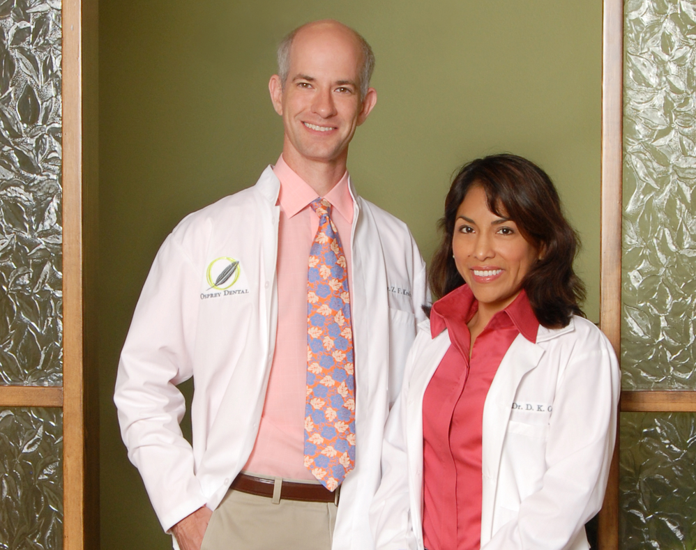 Two Osprey Dental dentists; pediatric dentistry; teeth whitening near Sarasota, FL