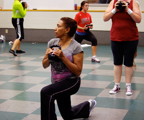 Register for kettle bell classes to gain strength