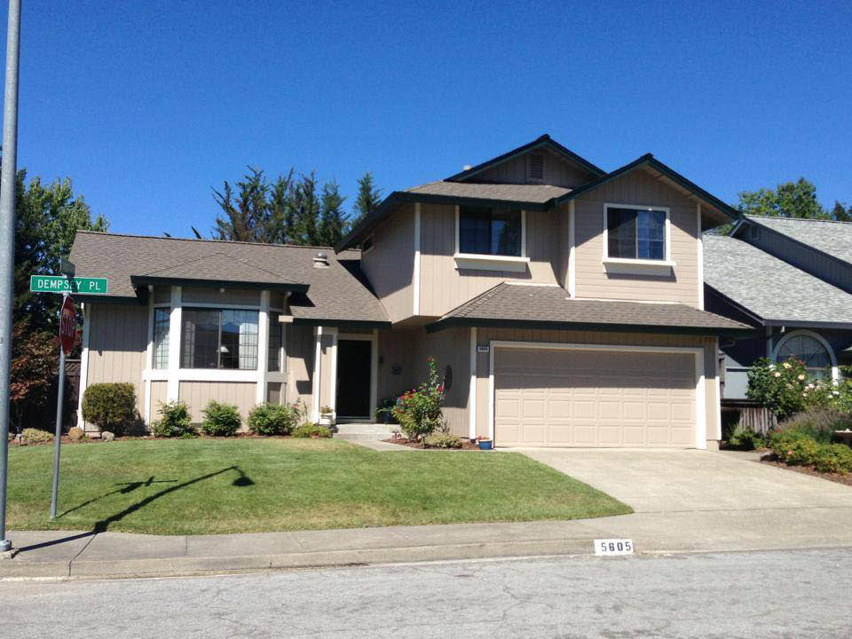 New exterior paint adds value and curb appeal to your  Rohnert Park home