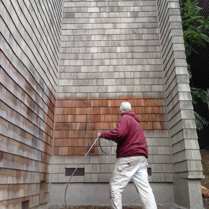 Kevin Fye painters offer siding stain matching services in Novato, CA