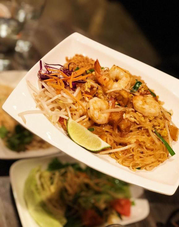 Pad Thai with Shrimp; Thai food in Fremont, CA