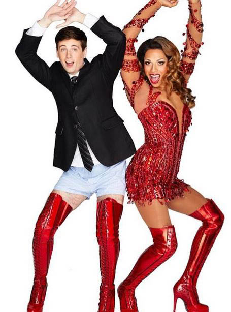 photo of two actors from Kinky Boots