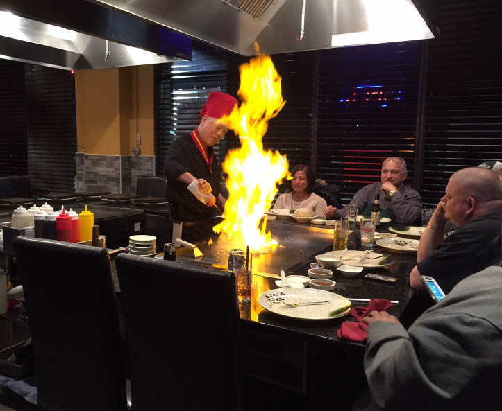 Kintaro Hibachi Grill food cooked tableside