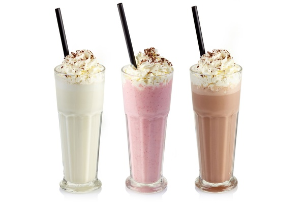 Kirk's Steakburgers has milk shakes in  vanilla strawberry & chocolate