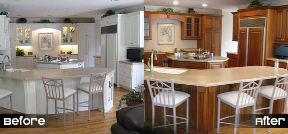 Buy new kitchen cabinets & new kitchen cabinet replacement in Atlanta GA from Kitchen Fronts of Georgia