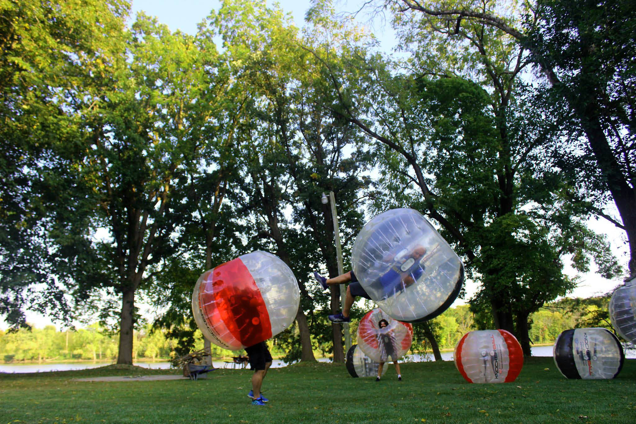 Also known as bubble soccer, knockerball offers loads of entertainment.