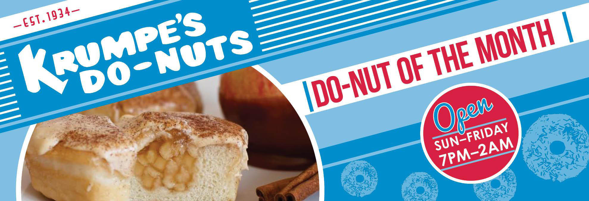 Krumpe's Do-Nuts, Donuts, Dessert, Donut of the month, Chocolate, Glazed