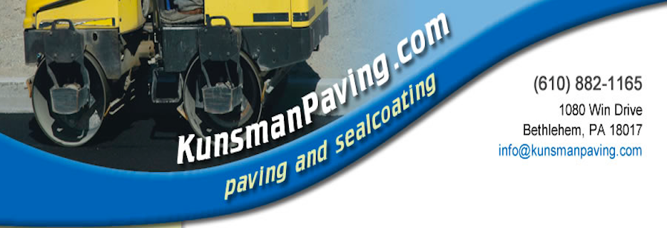 Wm. Kunsman & Son Paving & Sealcoating, LLC in Bethlehem, PA banner