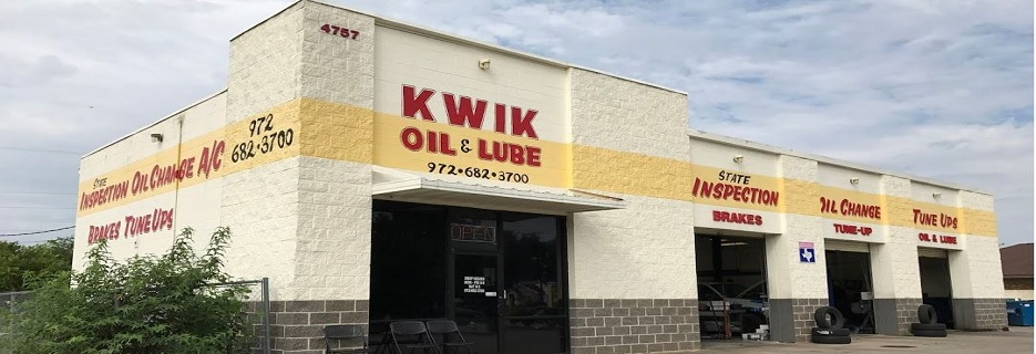 Kwik Oil & Lube Auto Repair in Mesquite, TX banner ad