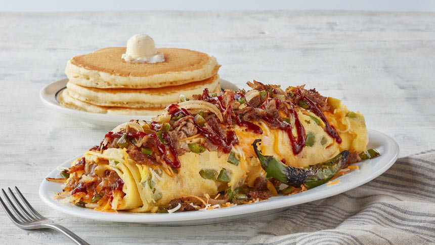 Mexican omelette