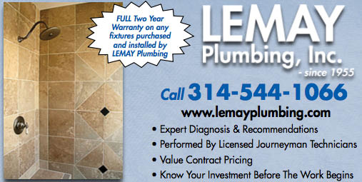 Lemay Plumbing, Inc. in business in St. Louis since 1955
