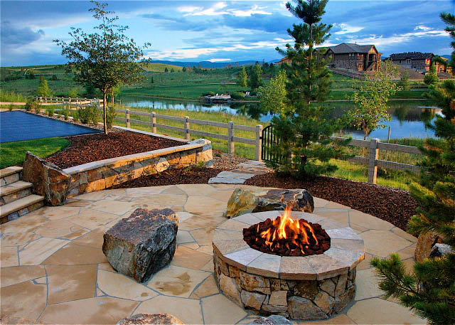 Hardscape, stonescape, outdoor living area, stone, landscaping with stone, quarry