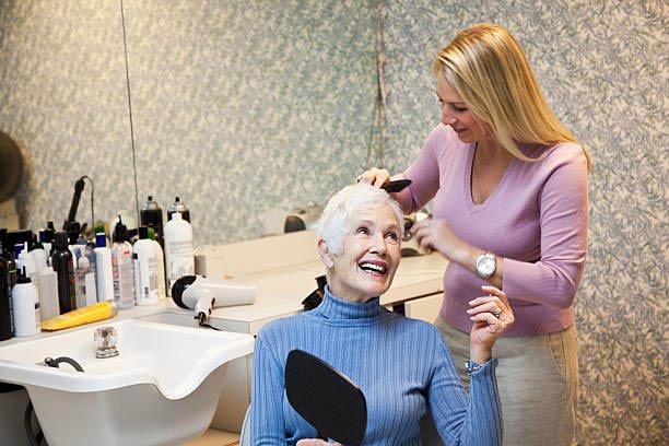La Belle Hair Designs Brookfield senior shampoo