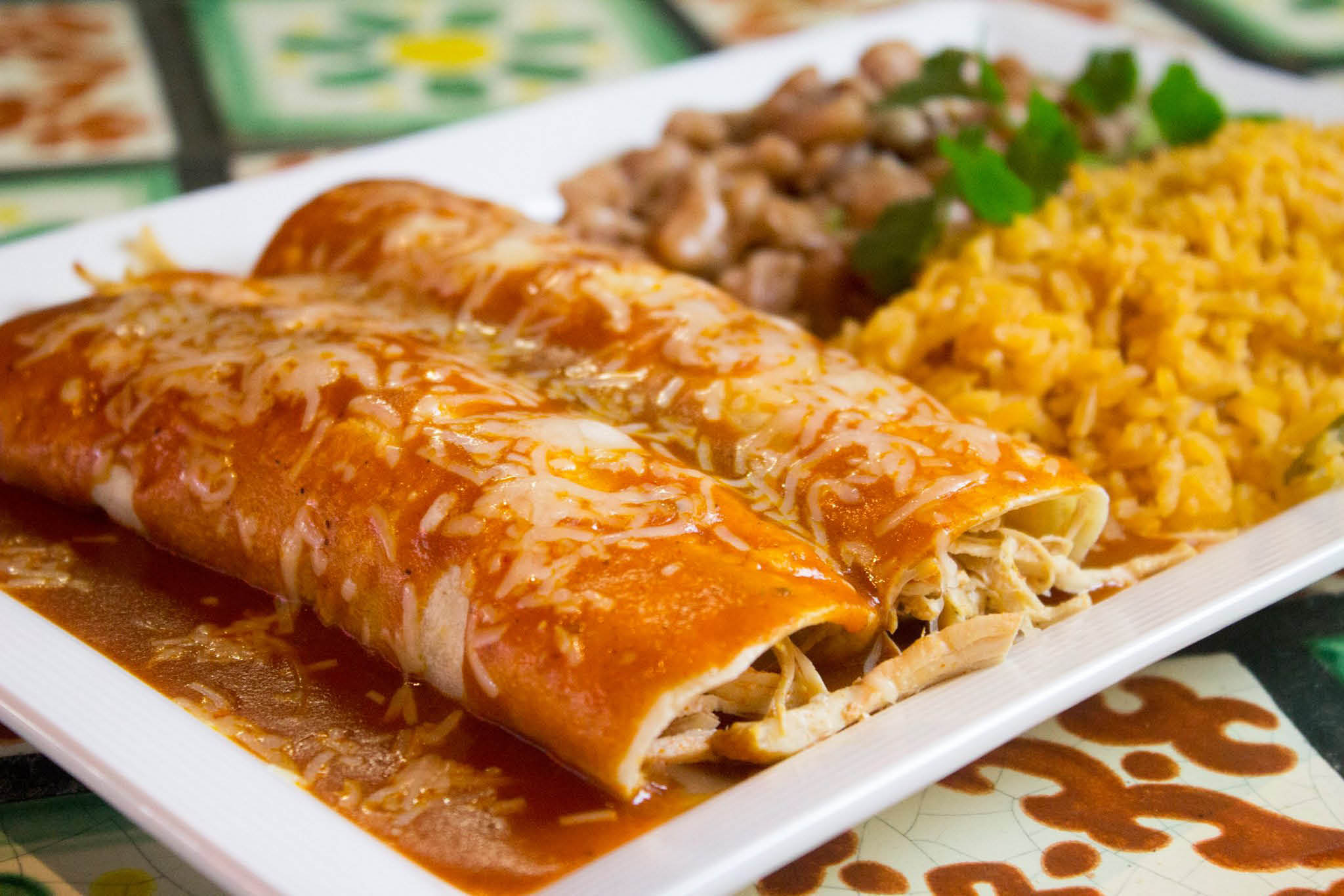 La Palmera Mexican Restaurant & Lounge - Everett, WA - Mill Creek, WA - enchiladas - Mexican food in Everett - Mexican food in Mill Creek