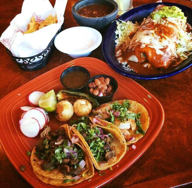 Lunch special of Tacos and Fajitas at La Pinata Restaurant in Concord, Pittsburg or Novato