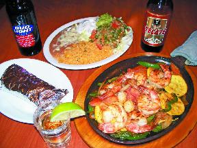 mexican food at la cazuela