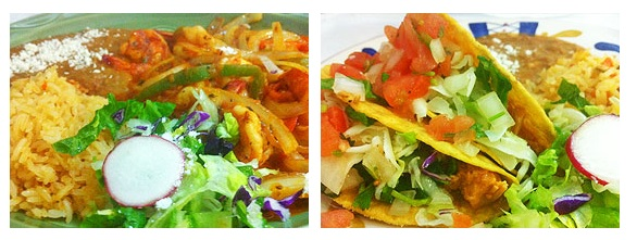 La Hacienda Mexican food salads for lunch and dinner
