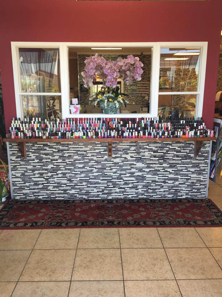 Huge selection of nail polish to choose from at T Spa Nails in Olympia and Tumwater, WA and Lacey Nails in Lacey, WA