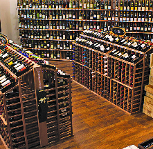 wide selection of wine and wine sold by case