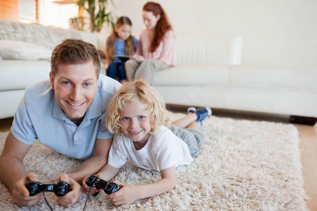 Professional carpet cleaning - carpet cleaners - Acumen Carpet Cleaning - happy family on a clean carpet