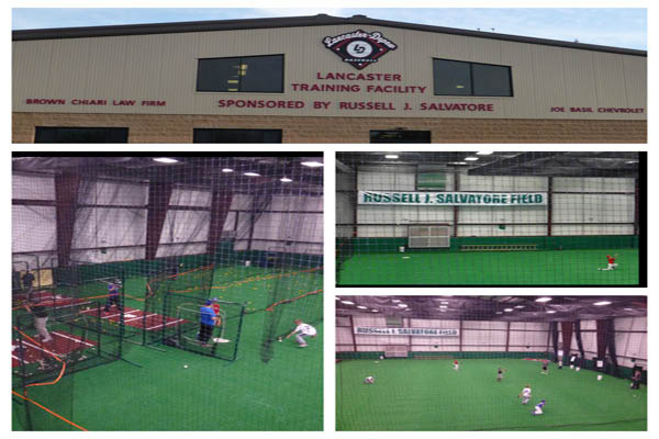 Indoor baseball training facility