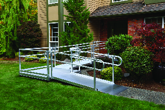 Home ramp and rails installed