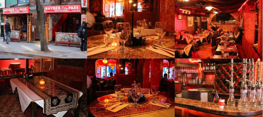 Khyber Pass Restaurant Interior shots with hookah, teas and more near Stuyesant