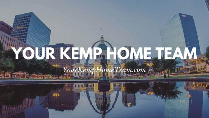Your Kemp Home Team with St. Louis skyline