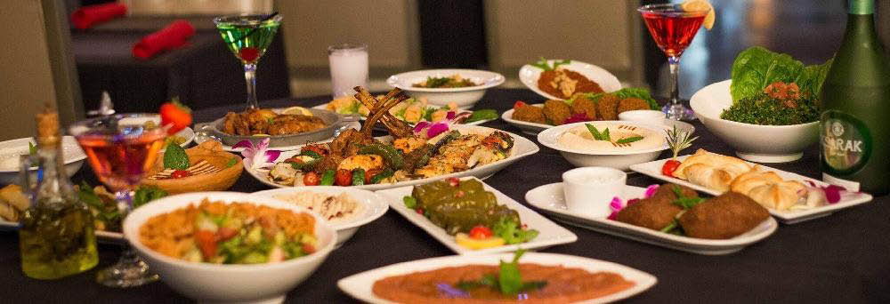 Authentic Lebanese cuisine dishes beautifully plated banner