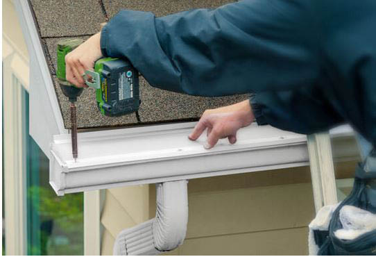 Seamless gutter system custom designed to your home