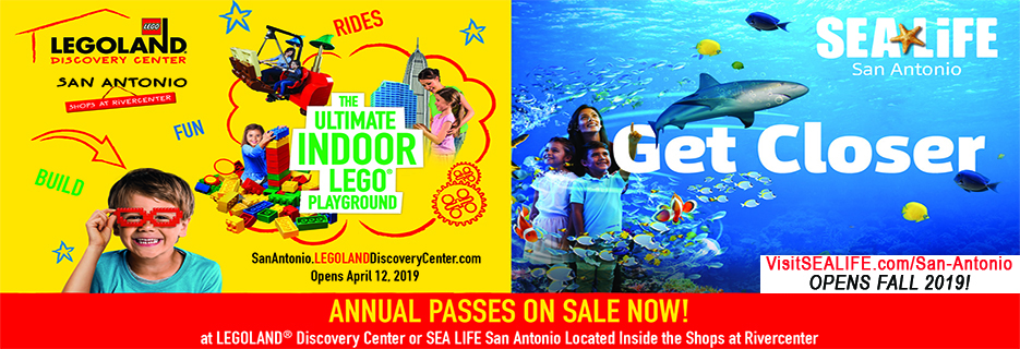 LegoLand Discovery Center and SeaLife San Antonio Banner