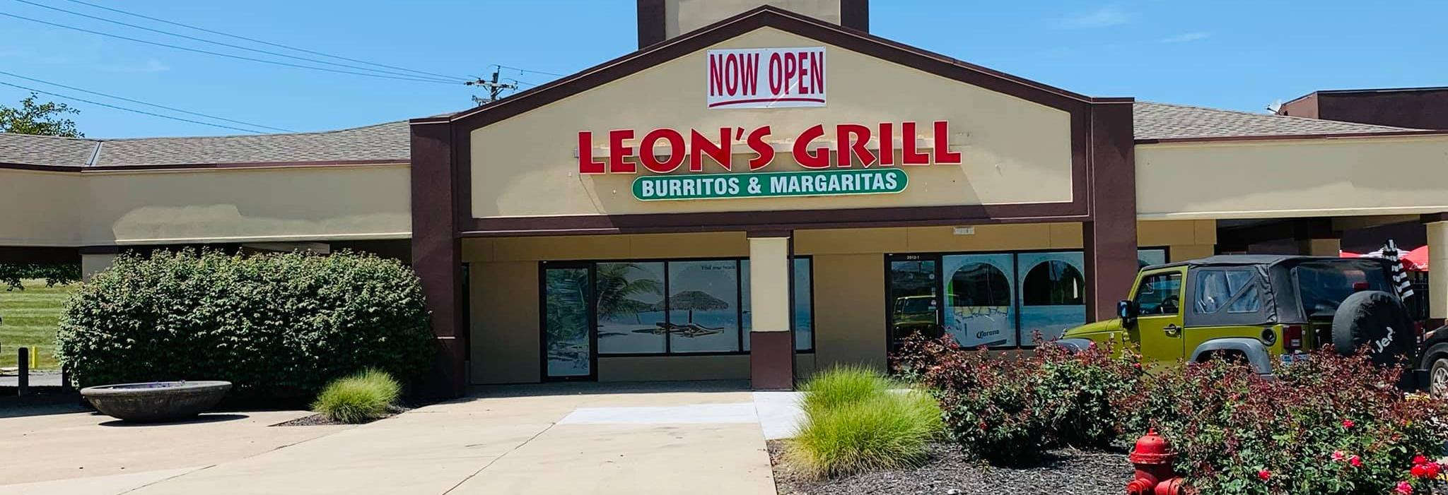 leon's grill burritos and margaritas exterior maineville ohio