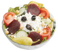photo of Greek salad from Leo's Coney Island on Northwestern Hwy in Southfield, MI