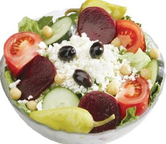 photo of Greek salad from Leo's Coney Island