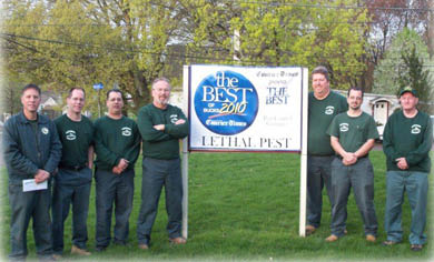 lethal pest,lethal pest employees,awards,pest solutions,pest removal,