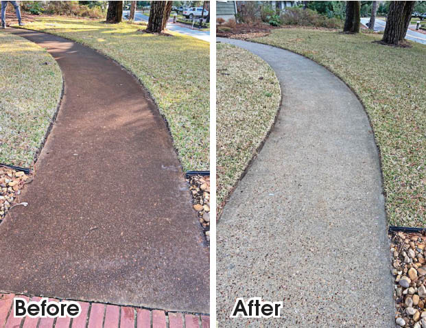 libbeys power washing before and after
