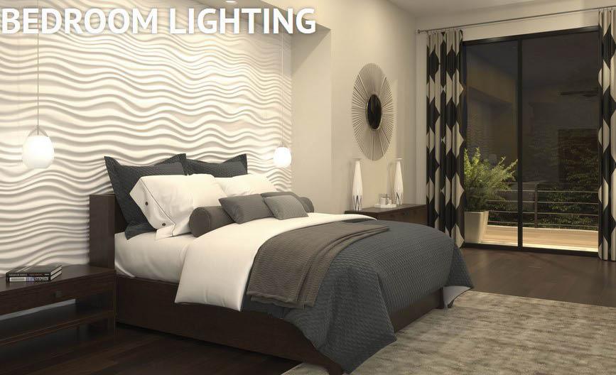 bedroom lighting; dimmer lights; bedside wall lighting