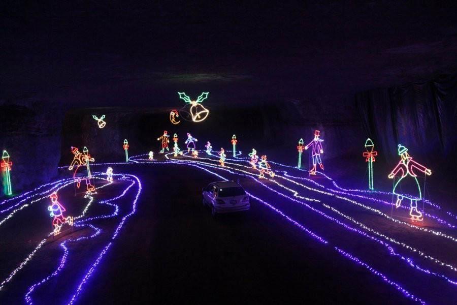 Louisville Mega Cavern christmas light under louisville kentucky usa today must see family friendly holiday activities louisville