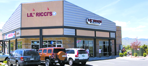 Exterior of Lil' Ricci's in Golden, Colorado