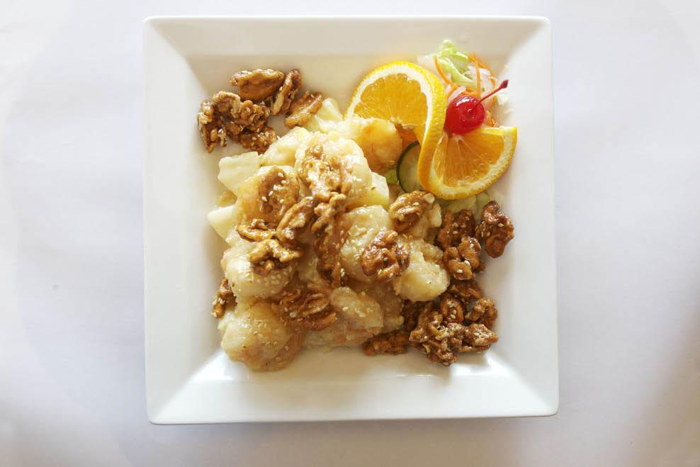 Try Lily Kai's Honey Walnut Prawns entree in Tiburon, CA.