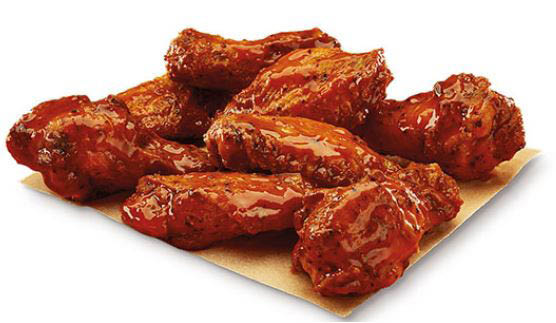 spicy chicken wings; buffalo chicken wings at Little Caesars Pizza